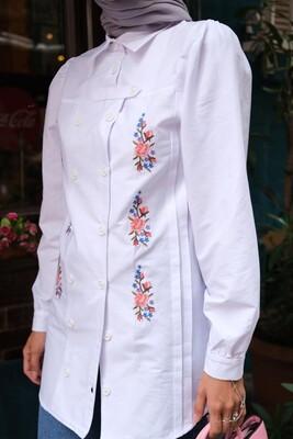Esra Keküllüoğlu - Çağla Gömlek-Beyaz