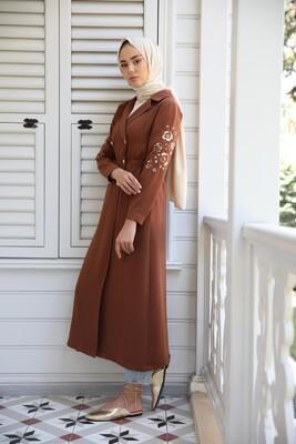 Esra Keküllüoğlu - Ceket Elbise-Kahve
