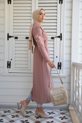 Esra Keküllüoğlu - Ceket Elbise-Pudra