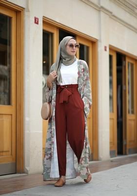 Esra Keküllüoğlu - Hürrem Büyük Düğmeli Pantolon - Kiremit