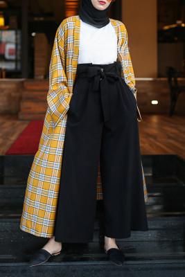 Esra Keküllüoğlu - Hürrem Büyük Düğmeli Pantolon - Siyah