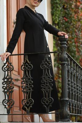 Esra Keküllüoğlu - Kruvaze Elbise - Siyah
