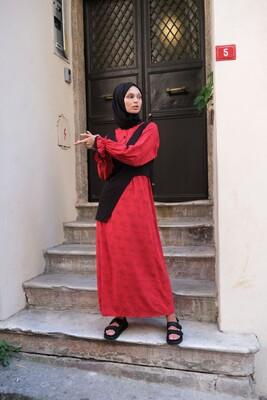 Esra Keküllüoğlu - Nilgün Elbise-Kırmızı