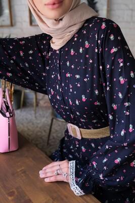 Esra Keküllüoğlu - Nilgün Elbise-Lacivert
