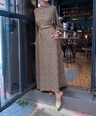 Esra Keküllüoğlu - Nilgün Elbise-Yeşil