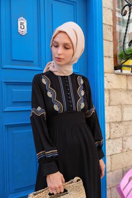 Esra Keküllüoğlu - Pervin Elbise-Siyah