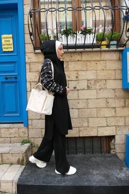 Esra Keküllüoğlu - Selanik Chanel Takım-Beyaz